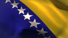 Digitally generated bosnia flag waving Stock Footage