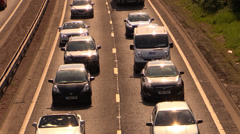 Traffic congestion on the highway Stock Footage