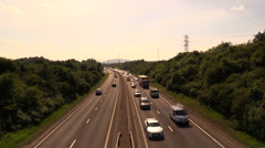 Traffic congestion on the highway - stock footage