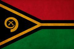 Vanuatu flag drawing ,grunge and retro flag series Stock Illustration