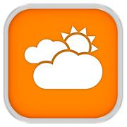 mainly cloudy with sunny intervals sign - stock photo