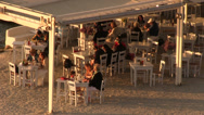 Stock Video Footage of Greek tavern in Mykonos Island in Greece