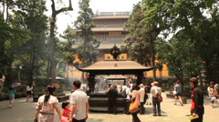 Lingyin Temple Hangzhou China 1 30 Stock Footage