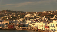 Stock Video Footage of view of Chora, the main city of Mykonos Island in Greece