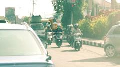 Street traffic in Bali, Indonesia, HD Stock Footage