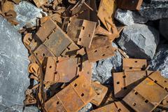 rusty scrap - stock photo