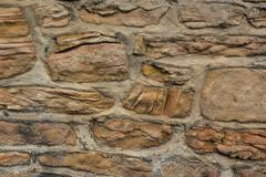 sandstone wall - stock photo