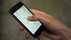Smartphone Maps Directions 1 Stock Footage