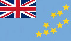 tuvalu flag drawing by pastel on charcoal paper - stock illustration