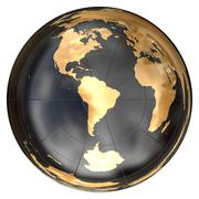 Worldmap in azimuthal projection (South America) Stock Illustration