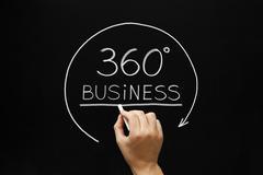 Business 360 degrees concept Stock Illustration