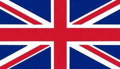 uk flag drawing by pastel on charcoal paper - stock illustration