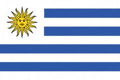 uruguay drawing by pastel on charcoal paper - stock illustration