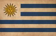 Stock Illustration of uruguay flag drawing ,grunge and retro flag series