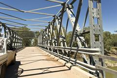 Tilpa Darling River Bridge - stock photo