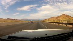 Driving Highway 93 Toward Lake Mead- Boulder City NV Stock Footage