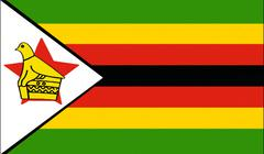 zimbabwe flag drawing by pastel on charcoal paper - stock illustration