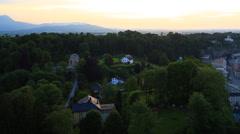 Salzburg Night View Stock Footage