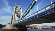 Stock Video Footage of Tower Bridge Britain -  Westminster, London England UK