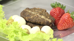 Gastronomy Cattle Hambburger Stock Footage