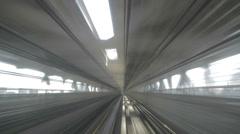 4K timelapse yurikamome driverless train in odaiba Stock Footage