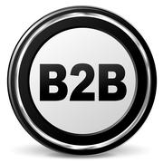 Vector b2b icon Stock Illustration