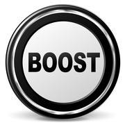 vector boost icon - stock illustration