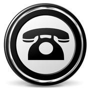 vector old phone icon - stock illustration