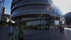 City Hall Close Up, HQ of Boris Johnson Mayor Londons Mayor Stock Footage