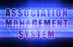 Association management system Stock Illustration