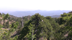 Distant view of Troodos mountains Stock Footage