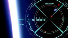 Old satellites like space debris - stock footage