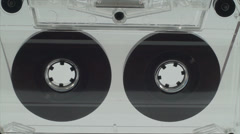 Audio Tape Reels Spinning, Isolated On White, Cassette, Retro, Audio Media Stock Footage