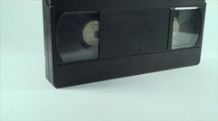 Video Tape Isolated On White, Vintage, Media, Retro, Old, Tilt Shot Stock Footage