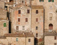 Stock Photo of medieval sorano town in italy