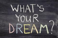 what's your dream - stock photo