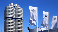 bmw building munich - stock footage