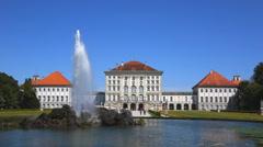 munich, nymphenburg castle - stock footage