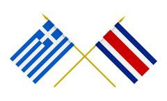 Stock Photo of flags, costa rica and greece
