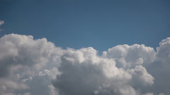 Timelapse of cumulus clouds forming - stock footage