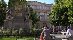 Italy, Milan, Piazza la Scala. Stock Footage