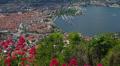 Italy, lake Como and town Como landscape. Footage