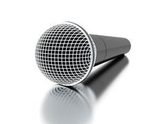 Microphone rendered isolated with highlights Stock Illustration