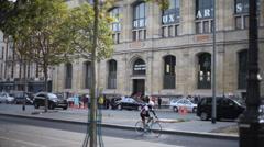 Paris Beaux Arts Bridge Seine Vendor Stall 5 Stock Footage