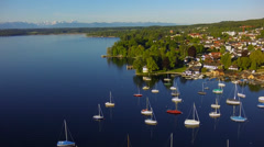 Lake starnberg, bavaria, germany Stock Footage