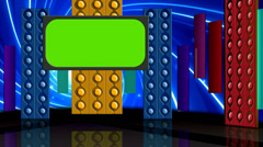 Entertainment TV Studio Set 08 - Virtual Green Screen Background Loop Stock Footage