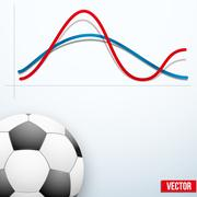 Concept statistics about the game of soccer Stock Illustration