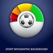 concept statistics about the game of soccer - stock illustration