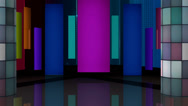 Stock Video Footage of Entertainment TV Studio Set 09 - Virtual Green Screen Background Loop