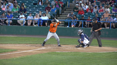 Baseball Batter Doesn't Swing, Lack of Trying Stock Footage